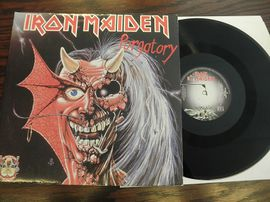 Iron Maiden , No prayer for the dying . Epic records punainen vinyyli 1990.