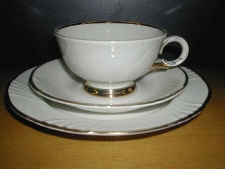 Arabia kultakoriste kahvikuppi