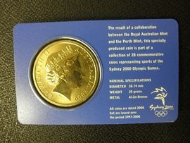 5 Dollaria Australia 2000  . Sydney 2000 olympic coin collector - 4 of 28 . Cande / Kayak .