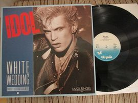 Billy Idol , White wedding . Chrysalis records . Maxi single 45 rpm.