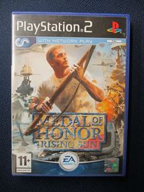 Playstation 2 peli , Medal of honor rising sun .  Peli + kotelo .