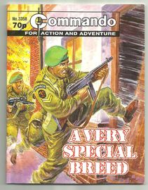 Commando for action and adventure , A very special breed . No. 3358.